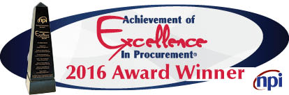 2016 Procurement Award logo